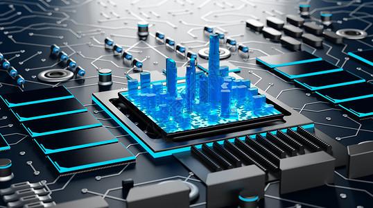 科技城市芯片图片