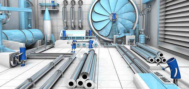 高科技工厂场景图片