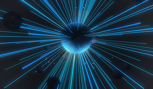 射线星球场景图片