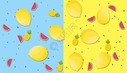 创意水果场景图片