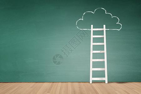 楼梯与云朵图片