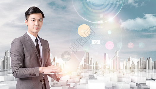 未来科技商务人士图片