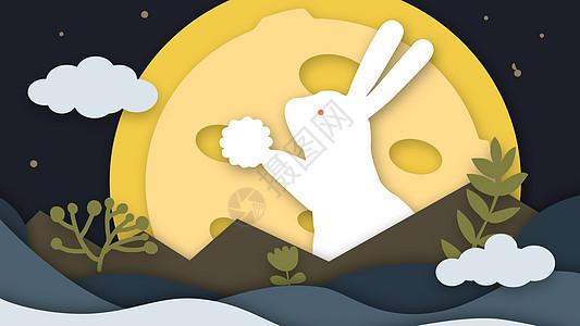 拿月饼的玉兔picture