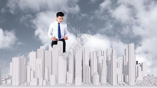 商务城市场景图片