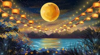 中秋节灯笼图片