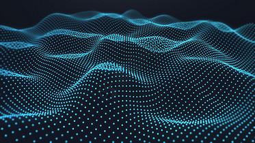 科技粒子波浪图片