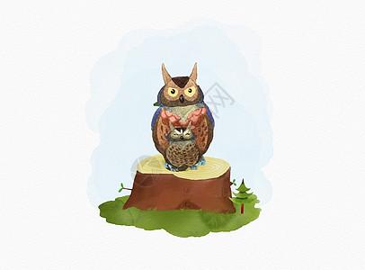 可爱猫头鹰图片