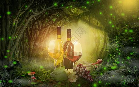 魔法葡萄酒图片