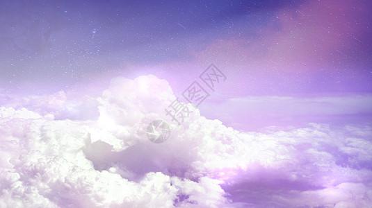 梦幻白云场景图片