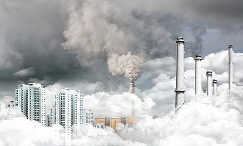 城市环境污染图片