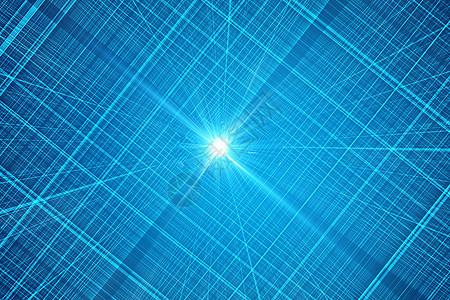 蓝色科技线条背景图片