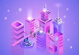 科技城市办公图片