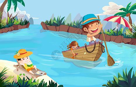 海上游玩嬉戏的儿童图片