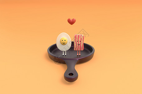 创意香肠煎蛋图片