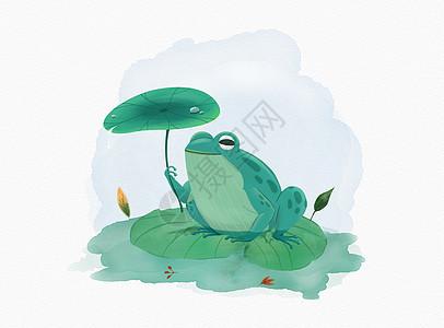 池塘里的小青蛙图片