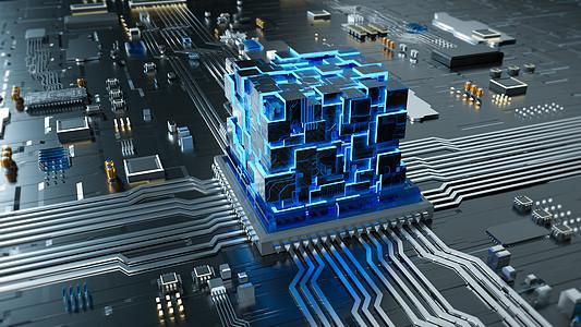 能量聚变芯片场景图片