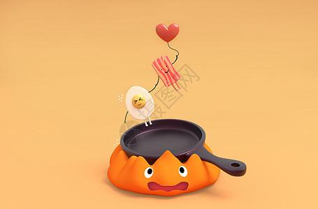 鸡蛋火腿图片