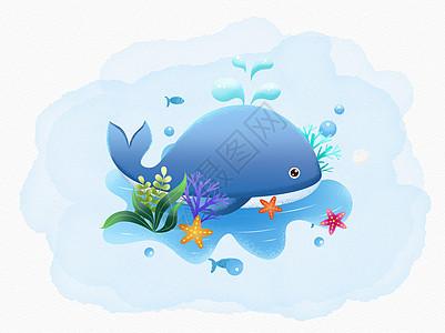 可爱的蓝色鲸鱼图片