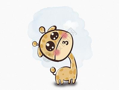 可爱的长颈鹿图片