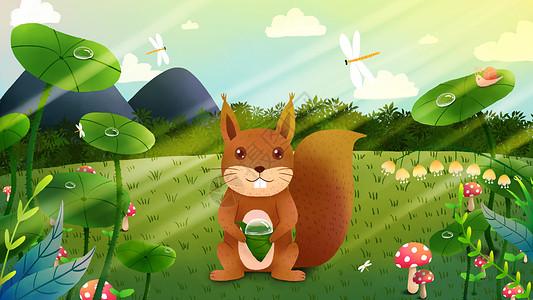 卡通小动物主题插画图片