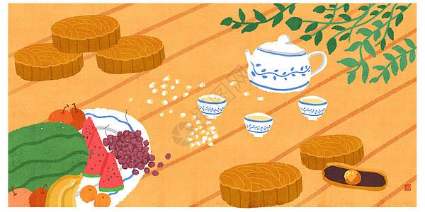 中秋节手绘图片