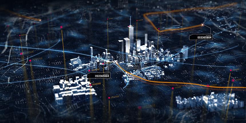 科技城市模型图片