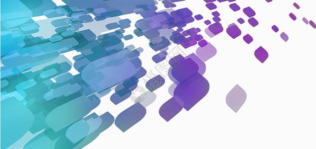 方块科技感背景图片