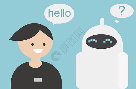 人工智能机器对话图片