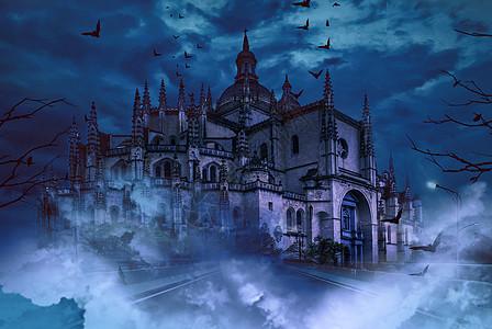 阴森城堡图片