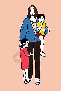 母亲和孩子图片