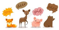 欧式小动物手账图片