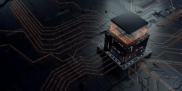 能量芯片场景图片