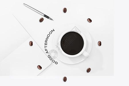 咖啡钟表图片