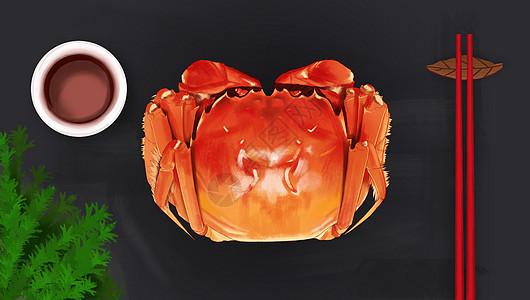 美味大闸蟹图片