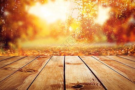 浪漫秋季场景图片