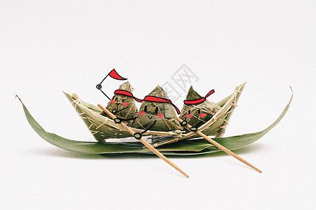 划舟比赛创意摄影插画图片