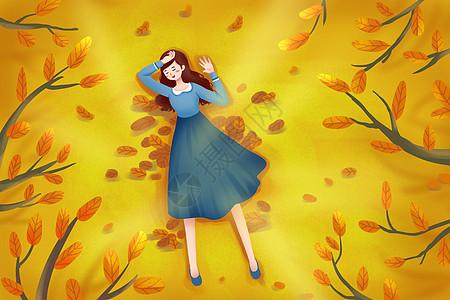 秋天插画图片