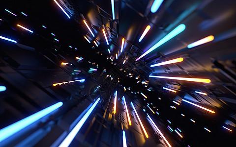 霓虹灯空间隧道图片