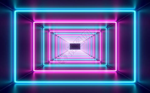 霓虹灯场景图片
