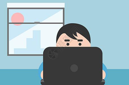 工作场景人物插画图片