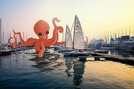 章鱼水怪图片