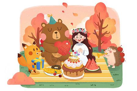 生日手绘图片
