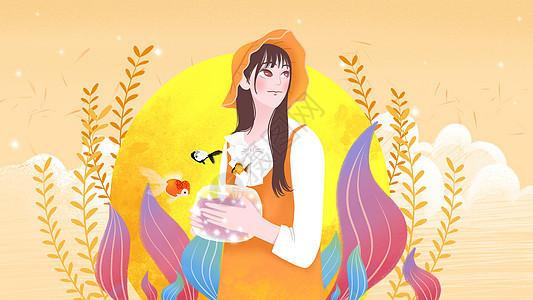 文艺中秋节图片