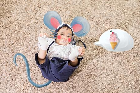 老鼠耳朵小宝宝图片