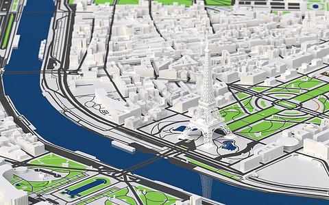 埃菲尔铁塔城市模型图片