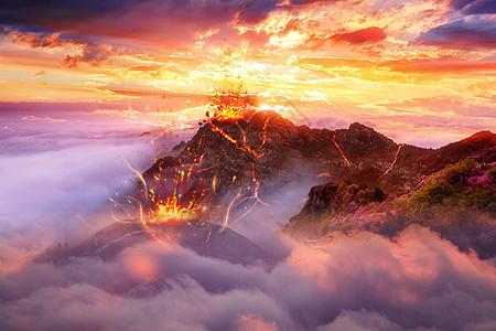 魔幻火山场景图片
