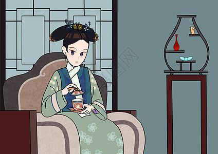 宫廷古装女子图片