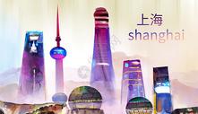 国际中国风地标插画图片
