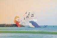 女孩与鲸鱼图片