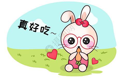 甜咪兔卡通形象好吃配图图片